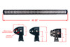 """RGB Series 40"""" OZ-USA® Double Row Dimmable LED Light bar Cross Style DRL & Variable RGB Bluetooth Functions Combo Beam Anti-theft Hardware Off road 4WD ATV SUV Truck"""