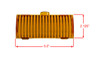 """5"""" Amber Diffused OZ-USA® Protective Bar Cover for RGB Series & T Series Dual Row LED light bar  Off road SUV ATV Truck 4WD"""