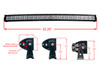 """Curved 40"""" OZ-USA® RGB Series Double Row Dimmable LED Light bar Cross Style DRL & Variable RGB Bluetooth Functions  Combo Beam Anti-Theft Hardware Off road 4WD ATV SUV Truck"""
