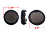 Set (4) Smoke Turn Signal Lens Deuce-Style Snap On Replacement lens  for Harley 2002-2013 Street Glide FLHX