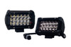 "T4 Series OZ-USA® 5"" Triple Row LED Light Bar Spot Beam  Driving Fog Lights with Wiring Harness and Switch for Off Road SUV ATV Truck Boat Marine Vessel Agriculture  Heavy Equipment Vehicle.(1 pair)"