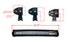 """Curved T Series 20"""" OZ-USA® Triple Row LED Light Bar Combo Beam (Flood+Spot) with Security Hardware Kit Offroad 4x4 Truck SUV"""