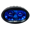 CLEARANCE! FR Series  Blue LED Spot Beam High Output Oval Forklift Light  Warehouse Safety Warning Lamp Spot Offroad Race Semi Truck Trailer Industrial Heavy Equipment Vehicle 12V 24V 48V