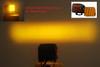 "3"" Amber Flood OZ-USA® Lens Cover for POD lights fog dust Off road 4x4 SUV ATV (1 pair)"