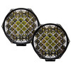 """80w High Ouput DRL 7"""" Round OZ-USA® LED Light  Combo Spot + Flood Beam with DRL Function Off Road Fog Driving Roof Bar Bumper 4x4 UTV SUV Truck (1pair)"""