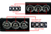 "HD Series 40"" OZ-USA® High Output LED Halo Rings Advance Optic Anti-Glare Lens Single Row Light bar Off Road Fog lights"