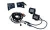 "Jeep Wrangler pod Mount + D4D 4"" LED bar SPOT Beam wiring Kit cube  JK JKU 2007-2017"