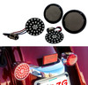 Black Out Red LED Turn Signal Running Light Insert Harley Bullet 1157 Bulb FL FX XL Smoke Lens touring dyna softail sportster street road electra glide