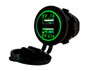 Green LED Dual USB Port Fast Charger Socket Power Outlet 1.0A 2.1A Car ATV Truck Boat Motorcycle 12 volt