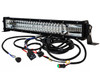 """DL-Series 20"""" Amber White Dual Color Changing LED Light bar Harness Anti-theft Security Bolt Flashing Emergency Driving Fog Spot Light Offroad SUV Truck Marine Agricultural and Heavy Equipment 12 - 32 Volts"""