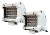 """4"""" White High Output Dual Color White Amber LED POD light Changing Flasher Strobe Optic Lens Emergency Driving Fog Spot Light  for Offroad Truck 1 SUV ATV Jeep Motorcycle Boat Marine Agricultural Equipment Vehicle 12 - 32 volts. (1 Pair)"""