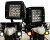 Dual Color White Amber LED POD light Changing Flasher Strobe Optic Lens Emergency Driving Fog Spot Light  for Offroad Truck 1 SUV ATV Jeep Motorcycle Boat Marine Agricultural and Heavy Equipment Vehicle 12 - 32 volts. (1 Pair)