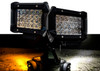 Dual Color High Output White Amber LED POD light Changing Flasher Strobe Optic Lens Emergency Driving Fog Spot Light  for Offroad Truck 1 SUV ATV Jeep Motorcycle Boat Marine Agricultural and Heavy Equipment Vehicle 12 - 32 volts. (1 Pair)