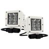 "4D Series OZ-USA® 3"" Marine Grade White Pod High Intensity LED Dock Lights Flood Beam Pattern Plug and Play Wire Harness Marine Boat RV"