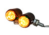 White Amber Dual LED High Output Running Light Turn Signal Fog Offroad Street Harley Touring Cruiser