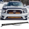 """M-Series 30"""" White Amber Dual Ultra Slim High Output Color Changing Osram LED Light Bar Single Row Spot Flood Combo Beam Off Road Truck Trailer ATV Marine Boat RV 12 - 30 Volts thin"""