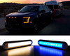 """12"""" White Blue Dual Color Changing LED Dome Night Light Touch Sensor Switch Lighting Fixture Marine RV Motorhome Camper Utility Van 12v 24v Semi Truck travel Trailer boat aircraft overland Interior Exterior cabinet waterproof"""