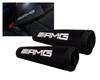 AMG Logo Black Neoprene Automotive Seat Belt Covers Safety Shoulder Pad Travel Bag Straps