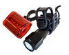 Bicycle Front and Rear Clip On White & Red  LED Light Safety Flashlight Waterproof Mountain Road Bike Moped Scooters