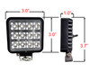 "3"" High Output 12w Osram LED Exterior InteriorUtility Work Light Flood Beam with Toggle Switch for Truck Trailer RV Marine 12-32 volts"