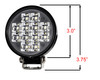"3"" Round High Output 12w Osram LED Exterior Interior Utility Work Light Flood Beam with Toggle Switch for Offroad SUV SxS Truck Trailer RV Marine Vessels 12-32 volts"