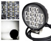 """3"""" Round High Output 12w Osram LED Exterior Interior Utility Work Light Flood Beam with Toggle Switch for Offroad SUV SxS Truck Trailer RV Marine Vessels 12-32 volts"""