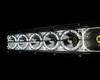 "22"" Laser Projector Light Bar Single Row High Intensity Osram Side LEDs with DRL Function for Offroad Truck SUV UTV Marine Vessels 12-24 volt"