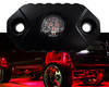 Red Cree LED Aluminum Rock Light Surface Mount for Crawling Under Body Frame Fender Wheel Well Interior Exterior Dome Light Truck UTV ATV RV Off Road 12V
