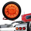 5.5 inch Round Amber Lens  21-LED Turn Signal Light Flush Mount with Rubber Grommet
