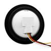 5.5 inch Round Clear Lens  21-LED Tail Brake Turn Signal Light Flush Mount with Rubber Grommet Truck Trailer 12V 24V