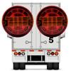 5.5 inch Round Reflectorized Lens Red Amber Dual LED Turn Signal Tail Brake Light Surface Mount for Trailer Toy Hauler RV 12V 24V