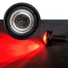 3/4 Inch Black 19mm Bolt Beam Red LED Rear Side Marker Clearance Lights for Truck Trailer RV 12V
