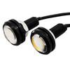 3/4 Inch Black 19mm Bolt Beam White LED Front DRL Rear Side Marker Clearance Lights for Truck Trailer RV 12V