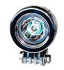 OZ-USA® Chrome 20w LED lights spot motorcycle cruiser fog hid passing running white vn