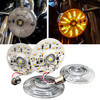 White Amber Dual LED Turn Signal Kit Harley Day Time Running Touring Maker 1157