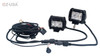 "D4D 4"" Flood Beam LED Pair 4D reflector Work Light Bar Black Off-Road SUV Boat 4WD Jeep"