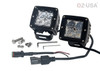 4D POD Combo Flood Spot LED lights fog atv offroad 3 x 4 race beam truck motorcycle cube