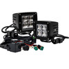 """4D Series OZ-USA® 3"""" Pod High Intensity LED Ditch Lights Spot Beam with Pattern Plug and Play Wire Harness Offroad"""