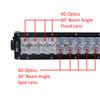 """40"""" Curved 4D-Series OZ-USA® 240w LED Lightbar Combo Spot/Flood Beam for Off-road Truck SxS UTV 12V-24V"""
