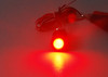 Black Dual LED Tag Lights License Plate Bolts OZ-USA® Xenon White Red LED for motorcycle ATV car 4x4 offroad trucks