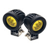 Amber Mini Trail Lights LED CREE Spot Motorcycle Offroad Dual Sport Enduro Fog KTM HID