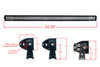 "T Series 52"" OZ-USA® Triple Row LED Light Bar Flood + Spot Beam with Security Hardware Kit Roof Rack Work Light Offroad 4x4 Truck SUV Semi Trailer Tractor Boat Fishing Vessels Heavy Equipment Vehicles"