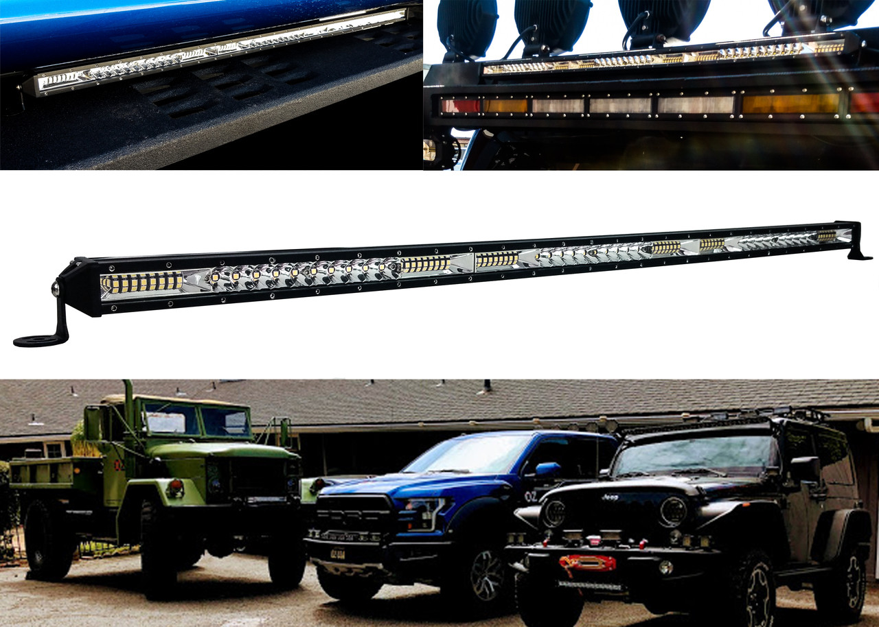 M-Series 10 Ultra Slim High Output Osram LED Light Bar Single Row Spot Flood Combo Beam Off Road Truck ATV Marine Boat RV Heavy Equipment Vehicles 12-30 Volts