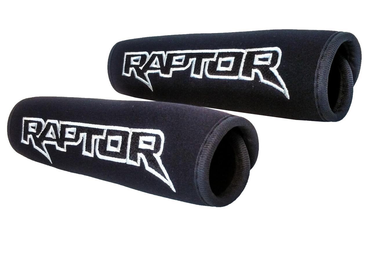 Raptor Logo Black Neoprene Automotive Seat Belt Covers For Ford F 150 Safety Shoulder Pad Travel Bag Straps Oz