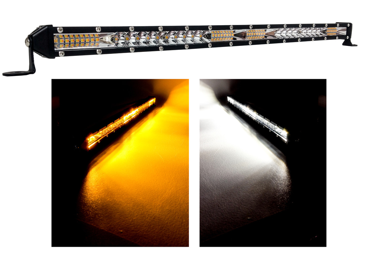 M Series 20 White Amber Dual Ultra Slim High Output Color Changing Osram Led Light Bar Single Row Spot Flood Combo Beam Off Road Truck Trailer Atv