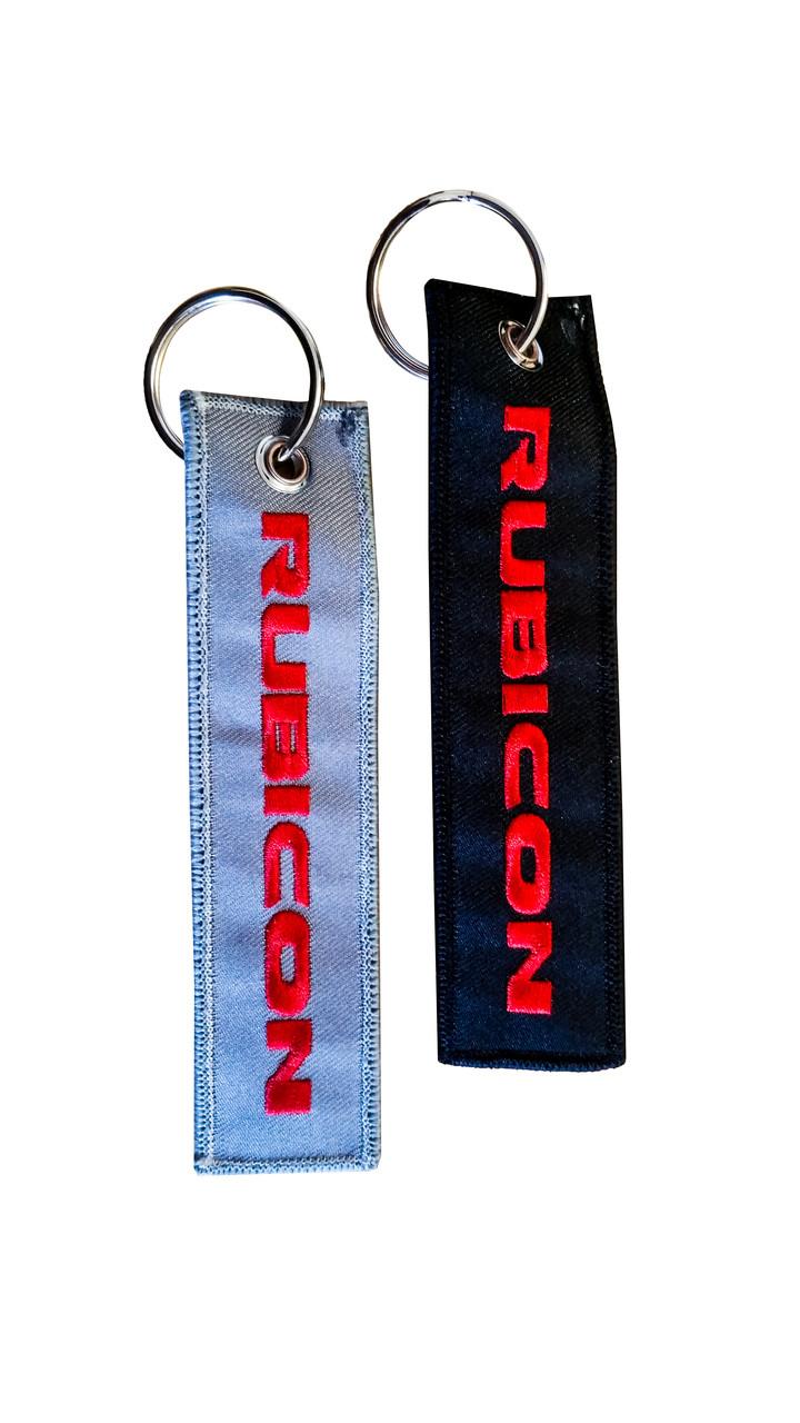 Black /& Charcoal Gray 2x Rubicon Keychain Jeep JKU JK Wrangler Rubicon Crew Tag Lock