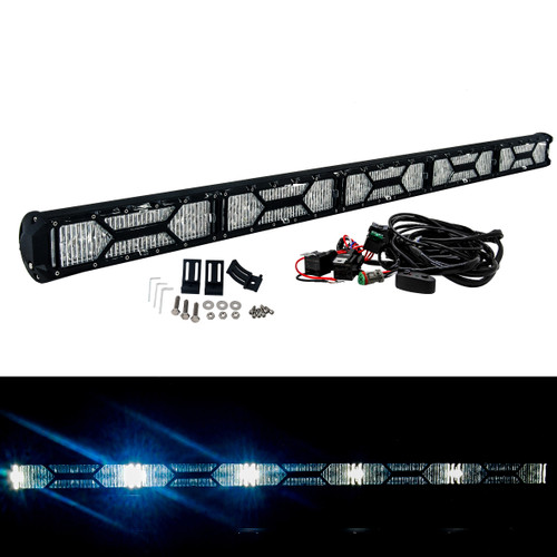 """X-Series 50"""" OZ-USA® Double Row LED Light Bar Combo Beam Diffused Lens Cover with Integrated DRL Daytime Running Light Function Offroad 4x4 Truck SUV"""