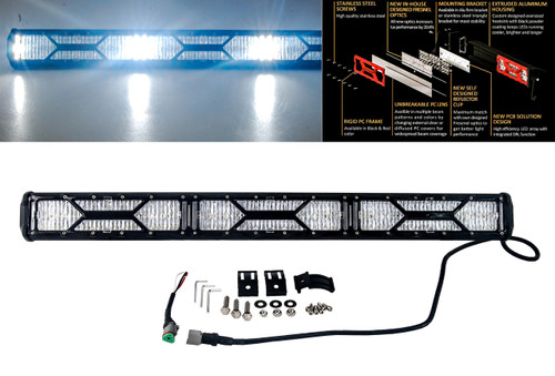 "X-Series 30"" OZ-USA® Double Row LED Light Bar Spot Beam Diffused Lens Cover DRL Daytime Running Light Offroad 4x4 Truck SUV"