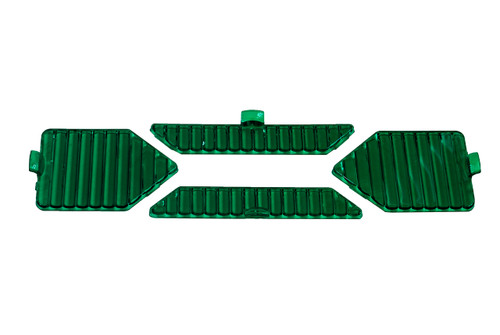 1 Set (4pcs.) Green Flood Protective Interchangeable Lens Cover for OZ-USA® X-Series LED Light bar.