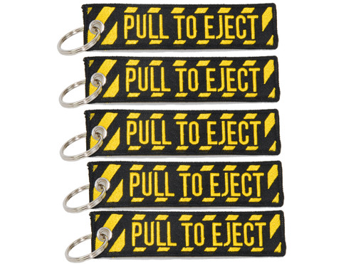 5 PULL TO EJECT Key Chain aviation atv utv motorcycle pilot crew tag lock 4x rv
